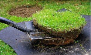 Основа для дернового компоста - трава, срезанная со слоем земли