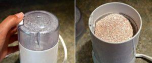 Для того чтобы собираемая скорлупа не занимала много места, можно постепенно её измельчать и убирать в стеклянную банку. Для этого можно использовать кофемолку, мясорубку, ступу.