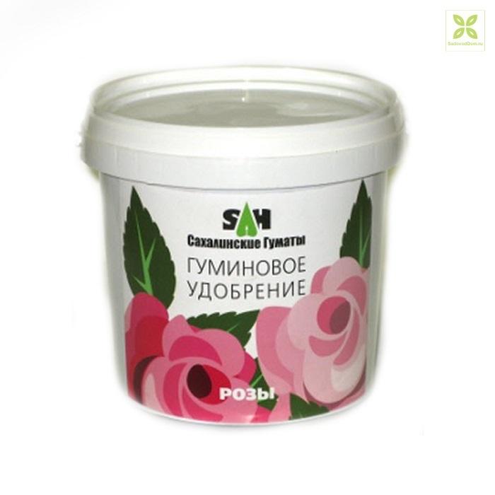 Гуминовые удобрения оздоравливают почву и делают кусты роз более выносливыми.