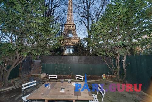 Сад с видом на Эйфелеву башню