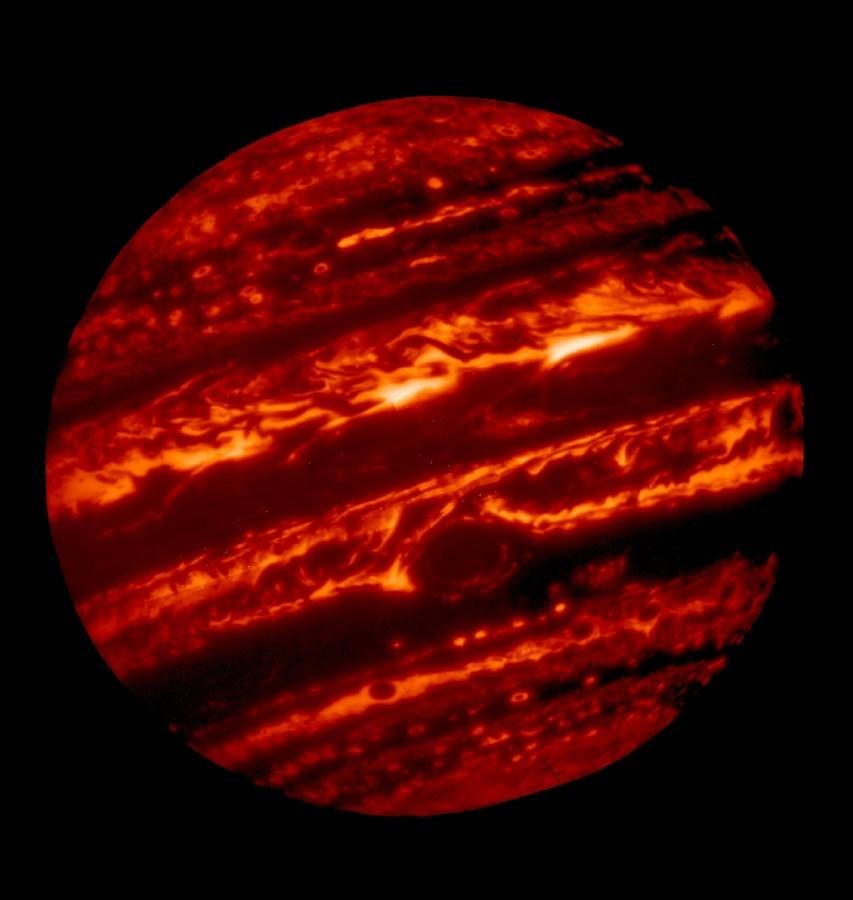 Юпитер в инфракрасном спектре