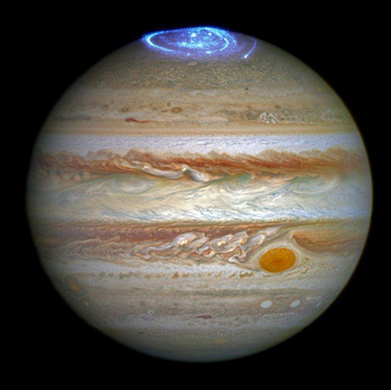 Северное сияние Юпитера
